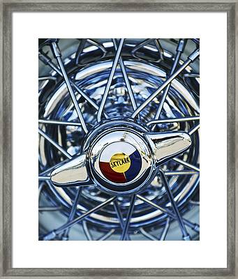 Buick Skylark Wheel Framed Print by Jill Reger