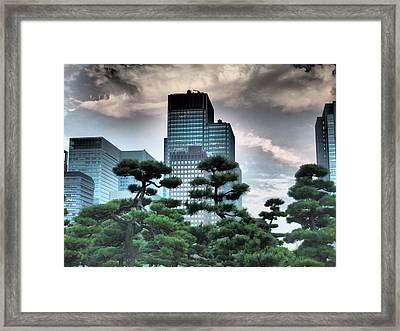 Building And Trees Framed Print by Dewy Van Tol