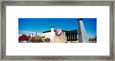 Building In A City, Pepsi Center Framed Print by Panoramic Images