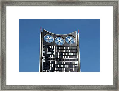 Building-integrated Wind Turbines Framed Print by Martin Bond