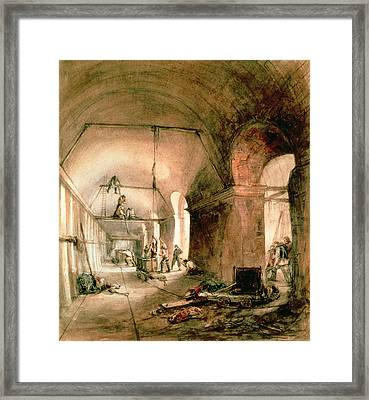 Building The Thames Tunnel, Rotherhithe Tunnel Framed Print by Anonymous