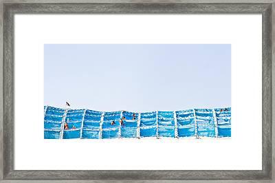 Building Work Framed Print by Tom Gowanlock