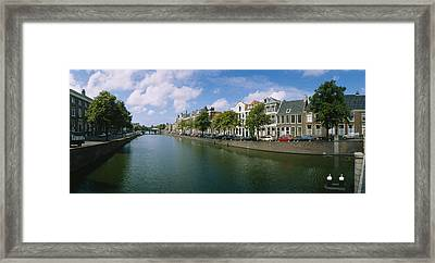 Buildings Along A Canal, Haarlem Framed Print by Panoramic Images
