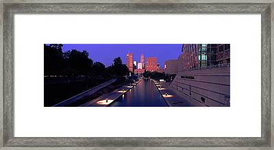 Buildings Along A Canal, Indiana Framed Print by Panoramic Images