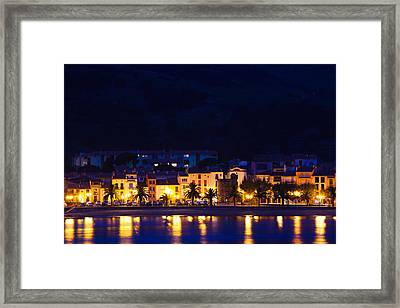 Buildings At The Waterfront, Collioure Framed Print by Panoramic Images