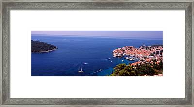 Buildings At The Waterfront, Dubrovnik Framed Print by Panoramic Images