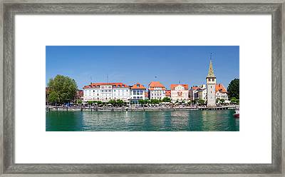 Buildings At The Waterfront, Mangturm Framed Print by Panoramic Images