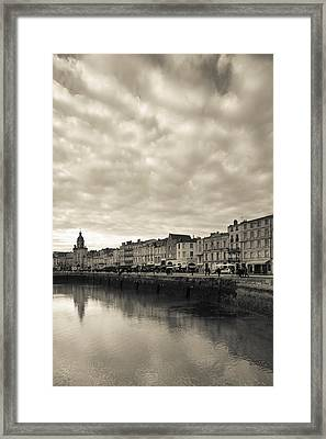 Buildings At The Waterfront, Old Port Framed Print by Panoramic Images
