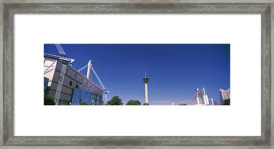 Buildings In A City, Alamodome, Tower Framed Print by Panoramic Images