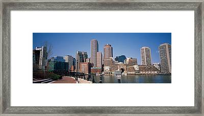 Buildings In A City, Boston, Suffolk Framed Print by Panoramic Images