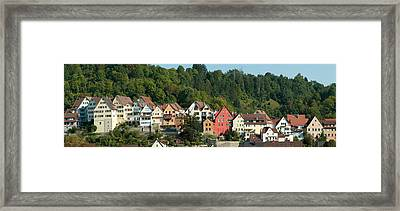 Buildings In A City, Horb Am Neckar Framed Print by Panoramic Images