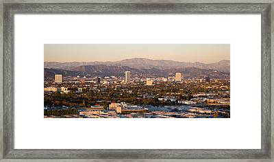 Buildings In A City, Miracle Mile Framed Print by Panoramic Images