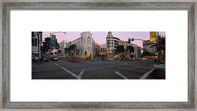 Buildings In A City, Rodeo Drive Framed Print by Panoramic Images