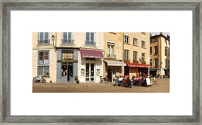 Buildings In A City, St. Jean Framed Print by Panoramic Images