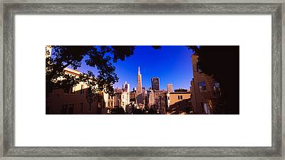 Buildings In A City, Telegraph Hill Framed Print by Panoramic Images