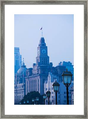 Buildings In A City, The Bund Framed Print by Panoramic Images