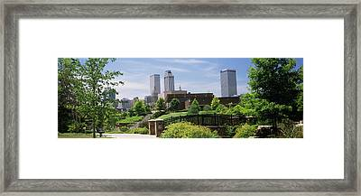Buildings In A City, Tulsa, Oklahoma Framed Print by Panoramic Images
