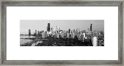 Buildings In A City, View Of Hancock Framed Print by Panoramic Images