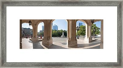 Buildings In The Financial District Framed Print by Panoramic Images
