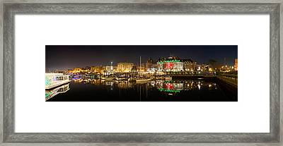 Buildings Lit Up At Night, Inner Framed Print by Panoramic Images