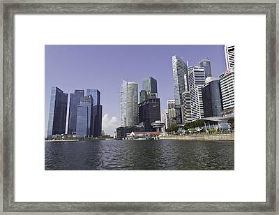 Buildings Of Financial District Of Singapore Framed Print by Ashish Agarwal