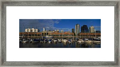 Buildings On The Waterfront, Puerto Framed Print by Panoramic Images