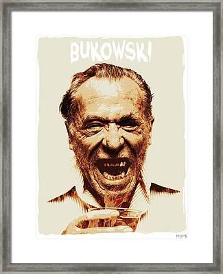 Bukowski Framed Print by Jessica Echevarria