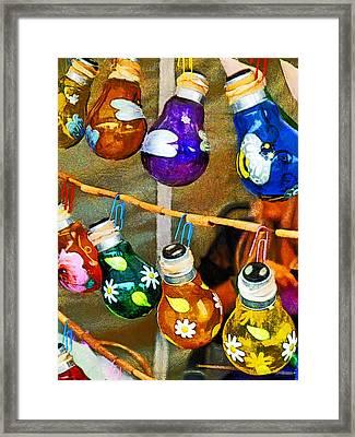 Bulbs And Bamboo Framed Print by Steve Taylor
