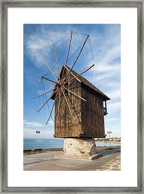 Bulgaria, Black Sea Coast, Nesebar, Old Framed Print by Walter Bibikow