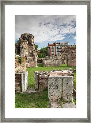 Bulgaria, Black Sea Coast, Varna, Ruins Framed Print by Walter Bibikow
