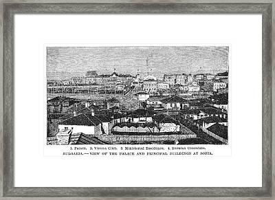Bulgaria Sofia, 1885 Framed Print by Granger