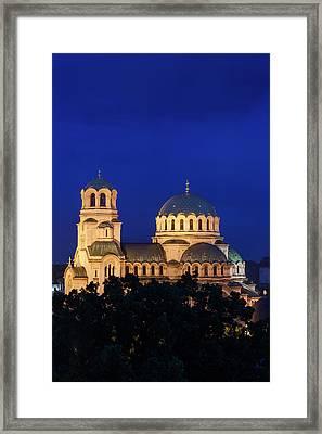 Bulgaria, Sofia, Ploshtad Alexander Framed Print by Walter Bibikow