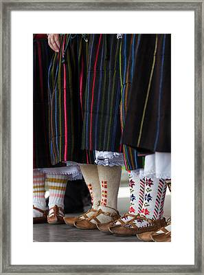 Bulgaria, Southern Mountains, Bansko Framed Print by Walter Bibikow