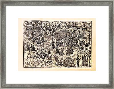 Bulgarian Folk Tales Framed Print by Milen Litchkov