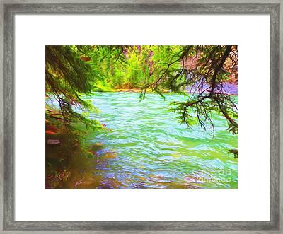 Bulging River Framed Print by John Kreiter