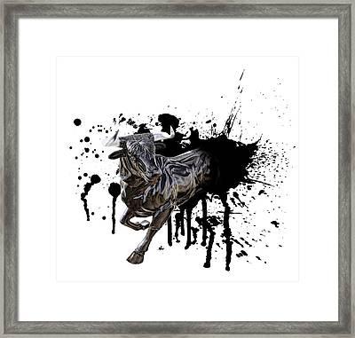 Bull Breakout Framed Print by Daniel Hagerman