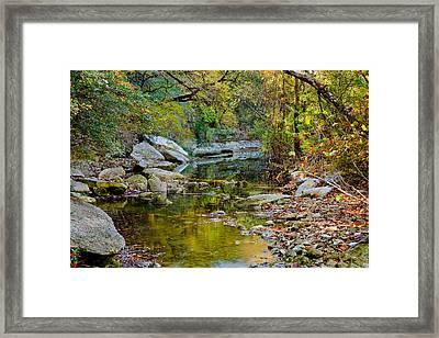 Bull Creek In The Fall Framed Print by Mark Weaver