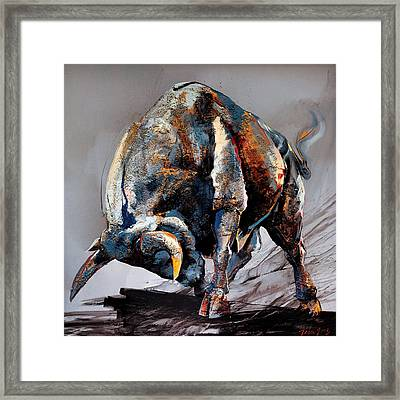 Bull Fight Framed Print by Dragan Petrovic Pavle