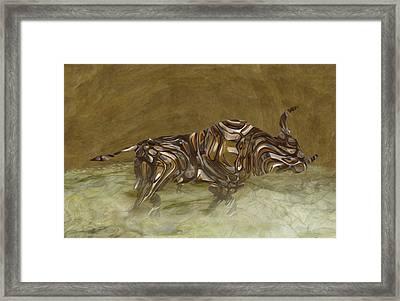 Bull Framed Print by Jack Zulli