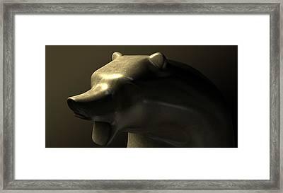 Bull Market Bronze Casting Contrast Framed Print by Allan Swart