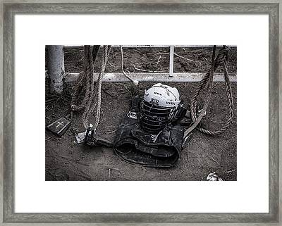 Bull Riders Protection Framed Print by Amber Kresge