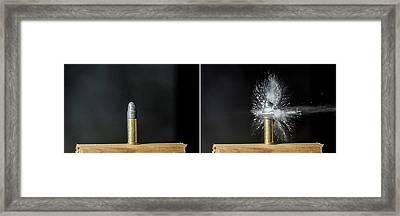 Bullet Hits Cartridge Framed Print by Herra Kuulapaa � Precires