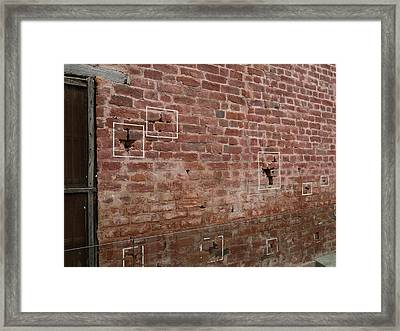 Bullet Holes Outlined In White Paint Framed Print by Panoramic Images