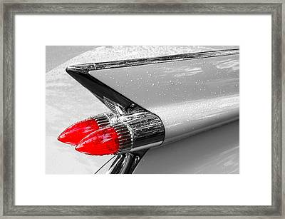 Bullet Tail Lights Framed Print by Jim Hughes