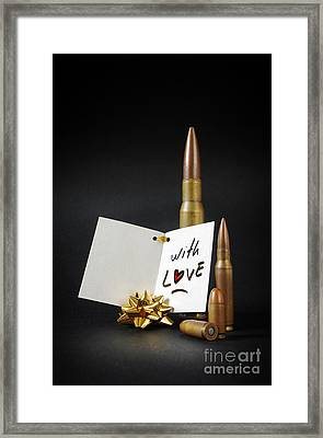 Bullets For You Framed Print by Carlos Caetano