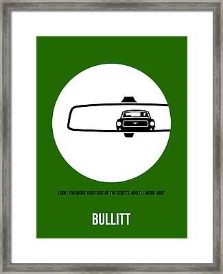 Bullitt Poster 2 Framed Print by Naxart Studio