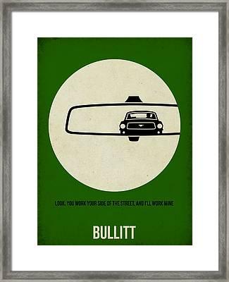 Bullitt Poster Framed Print by Naxart Studio