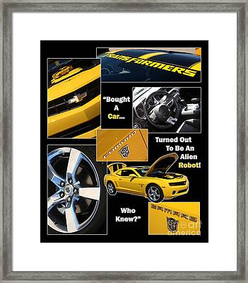 Bumble Bee-robot - Poster Framed Print by Gary Gingrich Galleries
