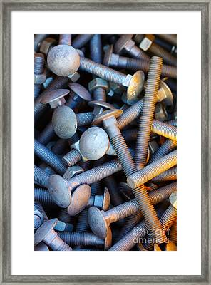 Bunch Of Screws Framed Print by Carlos Caetano