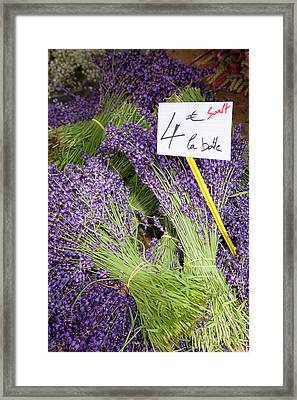 Bunches Of Fresh Lavender For Sale Framed Print by Brian Jannsen